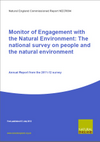 Monitor of Engagement with the Natural Environment: The national survey on people and the natural environment - Annual Report from the 2011-12 survey (Thumbnail link to record)