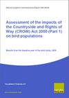 Assessment of the impacts of the CRoW Act on bird populations: Results from the baseline year of the pilot study, 2006 (Thumbnail link to record)