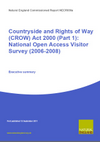 Countryside and Rights of Way (CROW) Act 2000 (Part 1): National Open Access Visitor Survey (2006-2008) - Executive summary (Thumbnail link to record)