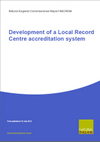 Development of a Local Record Centre accreditation system (Thumbnail link to record)