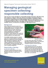 Managing geological specimen collecting: responsible collecting (Thumbnail link to record)