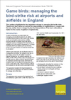 Game birds: managing the bird-strike risk at airports and airfields in England (Thumbnail link to record)