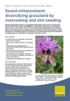 Sward enhancement: diversifying grassland by oversowing and slot seeding (Thumbnail link to record)
