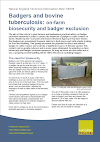 Badgers and bovine tuberculosis: on-farm biosecurity and badger exclusion measures (Thumbnail link to record)