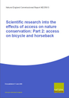 Scientific research into the effects of access on nature conservation: Part 2: access on bicycle and horseback (Thumbnail link to record)