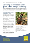 Catching and releasing wild game birds: a legal summary (Thumbnail link to record)