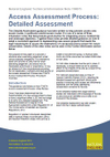 Access Assessment Process: Detailed Assessment (Thumbnail link to record)