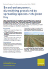 Sward enhancement: diversifying grassland by spreading species-rich green hay (Thumbnail link to record)