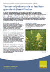 The use of yellow rattle to facilitate grassland diversification (Thumbnail link to record)