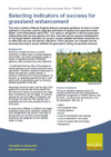 Selecting indicators of success for grassland enhancement (Thumbnail link to record)