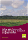 Making space for renewable energy: assessing on-shore wind energy development (Thumbnail link to record)