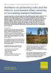 Guidance on protecting soils and the historic environment when restoring or re-creating lowland heathland (Thumbnail link to record)