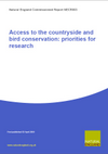 Access to the countryside and bird conservation priorities for research (Thumbnail link to record)