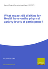 What impact did Walking for Health have on the physical activity levels of participants? (Thumbnail link to record)