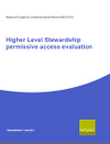 Higher Level Stewardship permissive access evaluation (Thumbnail link to record)