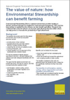 The value of nature: how Environmental Stewardship can benefit farming (Thumbnail link to record)