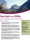 Spotlight on SSSIs – Working towards the goals of Biodiversity 2020: Issue 11 – Winter 2017 (Thumbnail link to record)