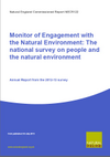 Monitor of Engagement with the Natural Environment: The national survey on people and the natural environment: Annual report from the 2012 - 2013 survey (Thumbnail link to record)
