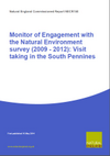 Monitor of Engagement with the Natural Environment survey (2009 - 2012): Visit taking in the South Pennines (Thumbnail link to record)