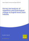 Survey and analysis of vegetation and hydrological change in English dune slack habitats (Thumbnail link to record)