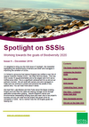 Spotlight on SSSIs – Working towards the goals of Biodiversity 2020: Issue 9 – December 2016 (Thumbnail link to record)