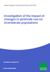 Investigation of the impact of changes in pesticide use on invertebrate populations (Thumbnail link to record)