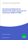 Developing Datasets for Biodiversity 2020: Outcome 1D (Omnicom 24951/ITT455) (Thumbnail link to record)